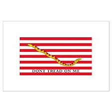 Navy Rattlesnake Jack, Dont Tread On Me Large Post