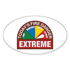 Wildland Fire Oval Sticker (10 pk)