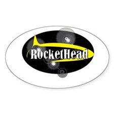 Official RocketHead Gear! Oval Decal