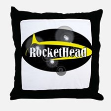 Official RocketHead Gear! Throw Pillow