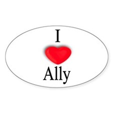 Ally Oval Decal
