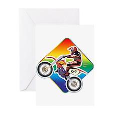Dirtbike Rider Greeting Card
