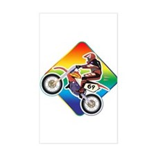 Dirtbike Rider Rectangle Decal