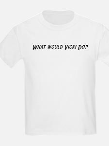 What would Vicki do? Kids T-Shirt