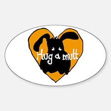 Hug a Mutt Oval Decal