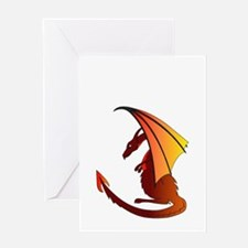 Unique Red dragon fire Greeting Card