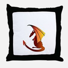 Unique Red dragon fire Throw Pillow