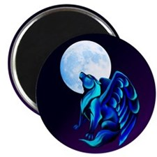 Fantasy Wolf Magnet