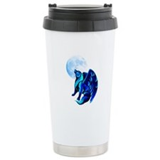 Fantasy Wolf Travel Coffee Mug
