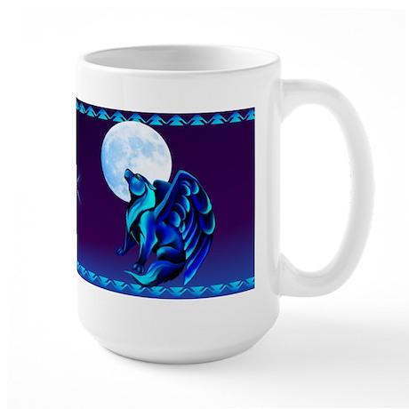 Fantasy Wolf Large Mug