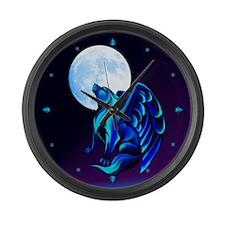 Fantasy Wolf Large Wall Clock