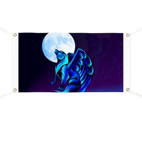 Fantasy Wolf Banner