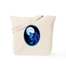 Fantasy Wolf framed Tote Bag