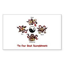 Four Great Accomplishments Rectangle Decal