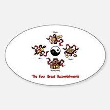 Four Great Accomplishments Oval Decal