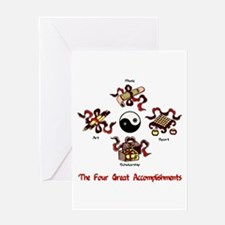 Four Great Accomplishments Greeting Card
