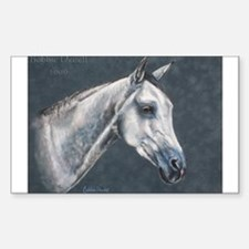 Grey Arabian Rectangle Decal
