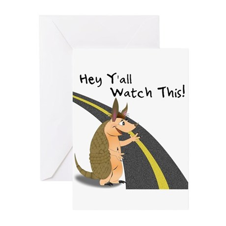 Watch This Armadillo Greeting Cards (Pk of 10)