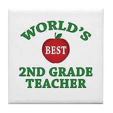 2nd Grade Teacher Tile Coaster