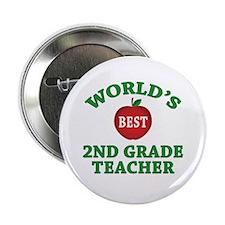 """2nd Grade Teacher 2.25"""" Button"""