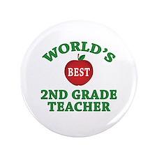 """2nd Grade Teacher 3.5"""" Button"""