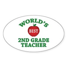 2nd Grade Teacher Oval Decal