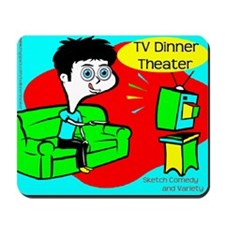 TV Dinner Theater Couch Logo Mousepad