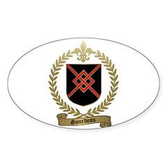 GOURDEAU Family Crest Oval Sticker (10 pk)