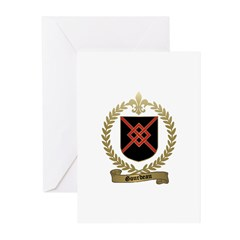 GOURDEAU Family Crest Greeting Cards (Pk of 20)