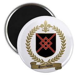 "GOURDEAU Family Crest 2.25"" Magnet (10 pack)"