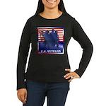 US Veteran Women's Long Sleeve Dark T-Shirt