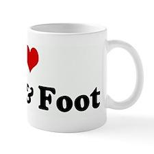 I Love Hand & Foot Mug