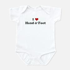 I Love Hand & Foot Infant Bodysuit