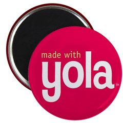 """""""Made with Yola"""" Magnet"""