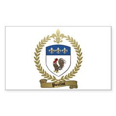 POULIOT Family Crest Rectangle Decal