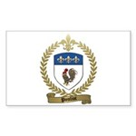 POULIOT Family Crest Rectangle Sticker 50 pk)