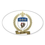 POULIOT Family Crest Oval Sticker