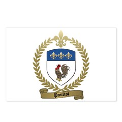 POULIOT Family Crest Postcards (Package of 8)
