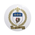 POULIOT Family Crest Ornament (Round)