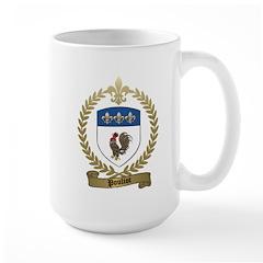 POULIOT Family Crest Large Mug