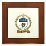 POULIOT Family Crest Framed Tile