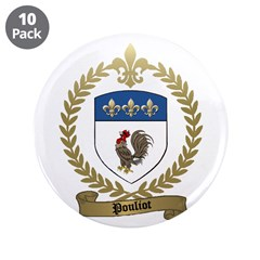 "POULIOT Family Crest 3.5"" Button (10 pack)"