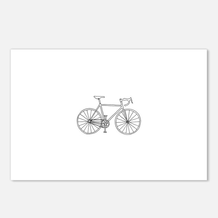 road bike Postcards (Package of 8)