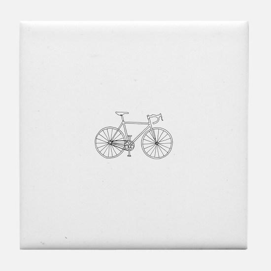 road bike Tile Coaster
