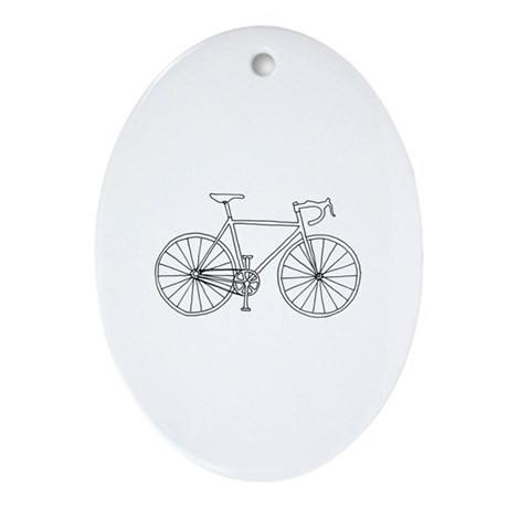 road bike Oval Ornament