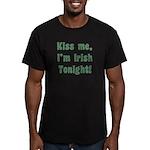 Kiss Me, I'm Irish Tonight! Men's Fitted T-Shirt (