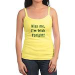 Kiss Me, I'm Irish Tonight! Jr. Spaghetti Tank