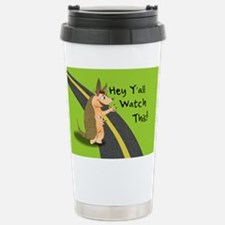 Watch This! Armadillo Stainless Steel Travel Mug