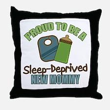 Sleep-Deprived Mom Throw Pillow