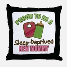 Sleep-Deprived Mom Throw Pillow